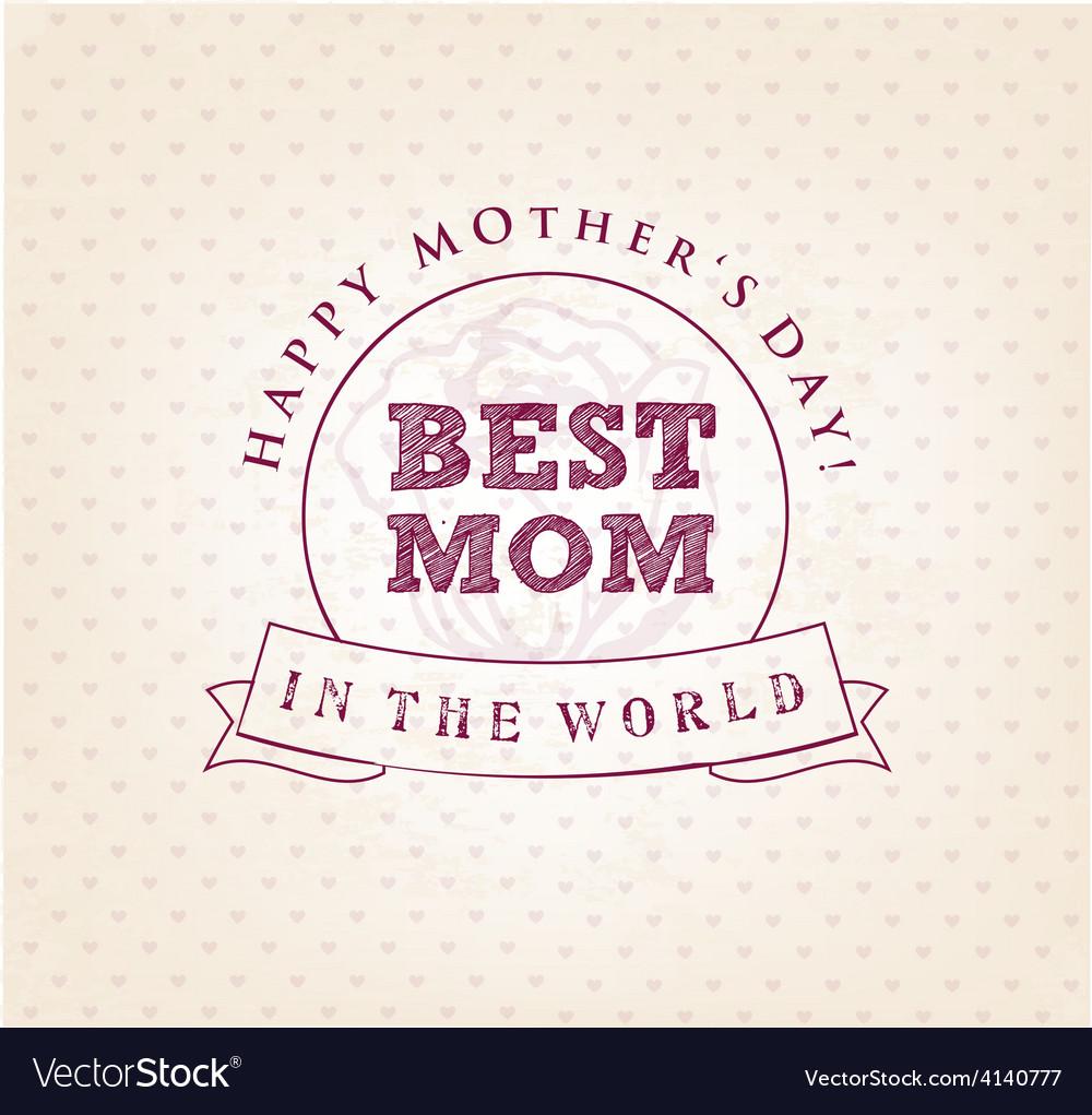 Best Mom Design Element Greeting Cards