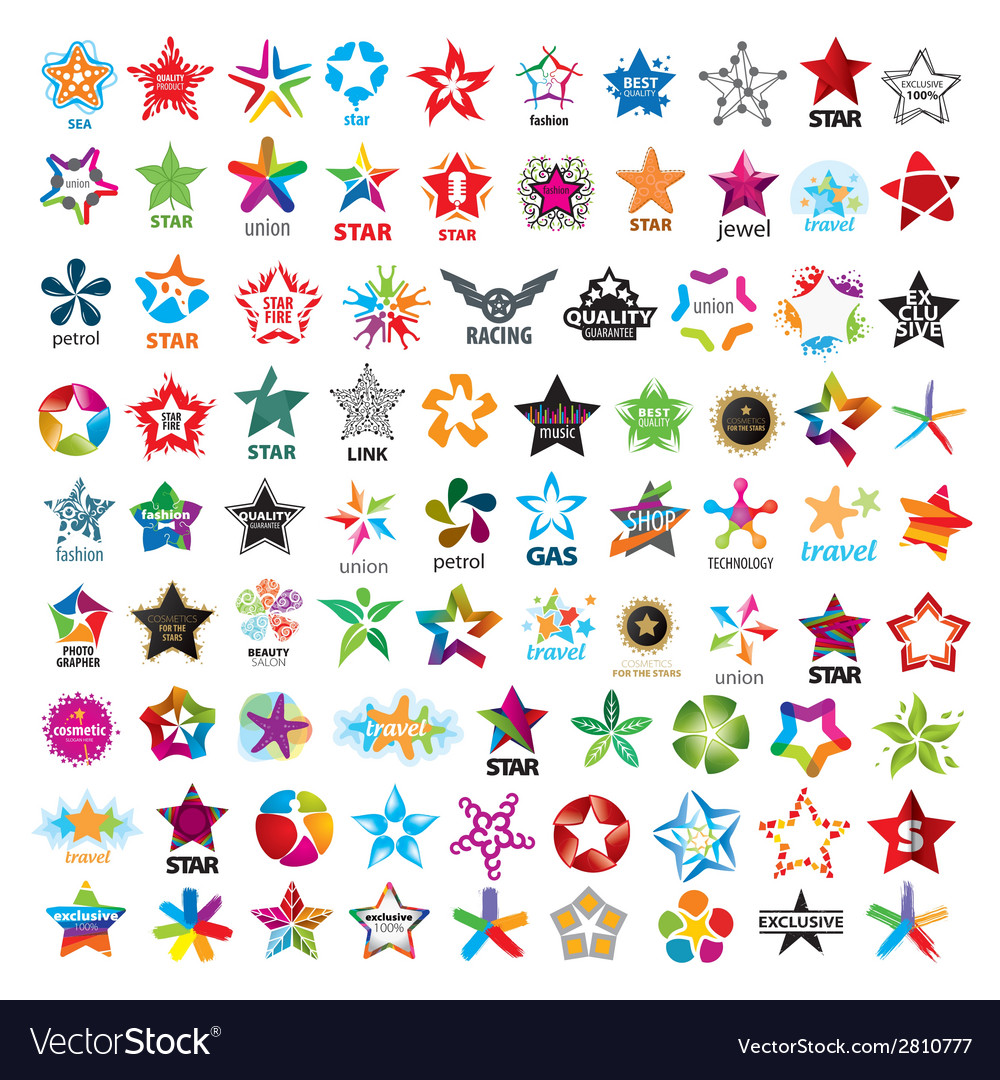 Biggest collection of logos five pointed stars