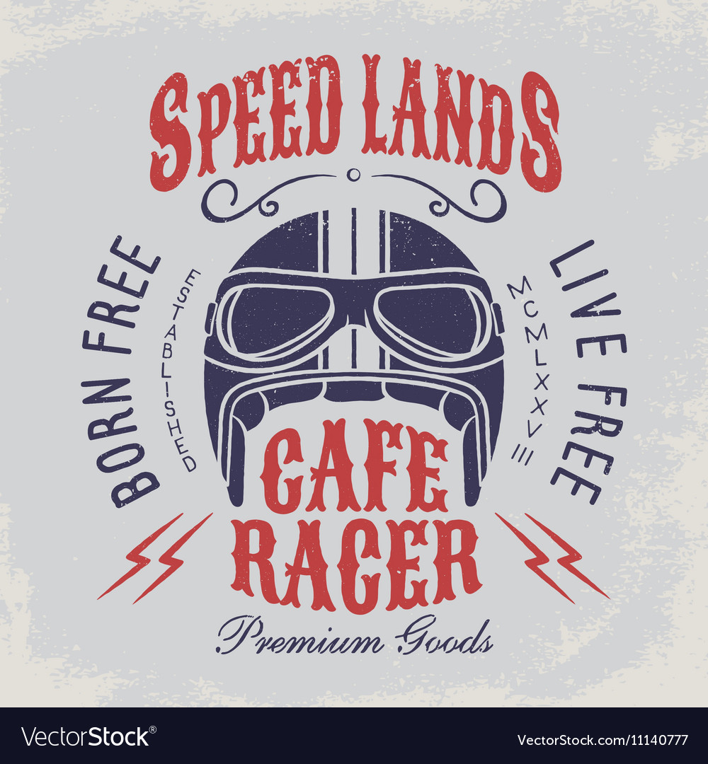Cafe racer t-shirt print