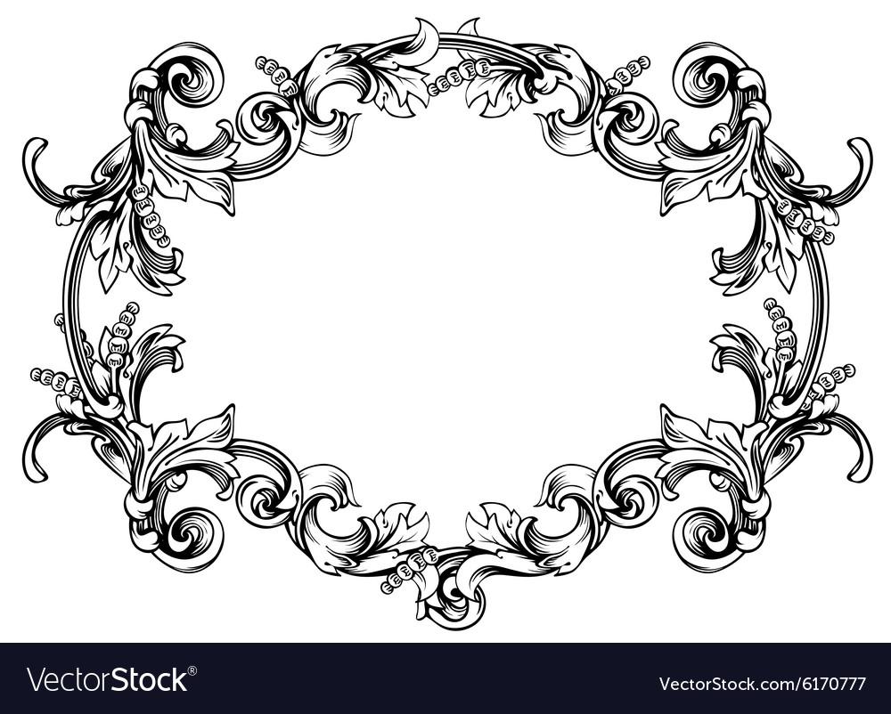 Floral label frame 8 Royalty Free Vector Image
