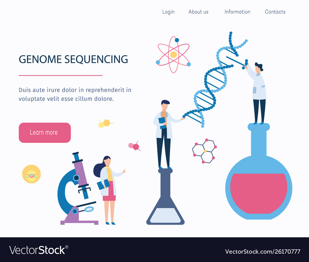 Genome sequencing - dna medical research by