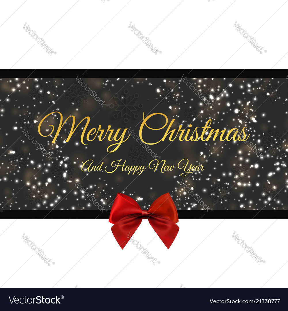 Happy christmas happy new year red detailed