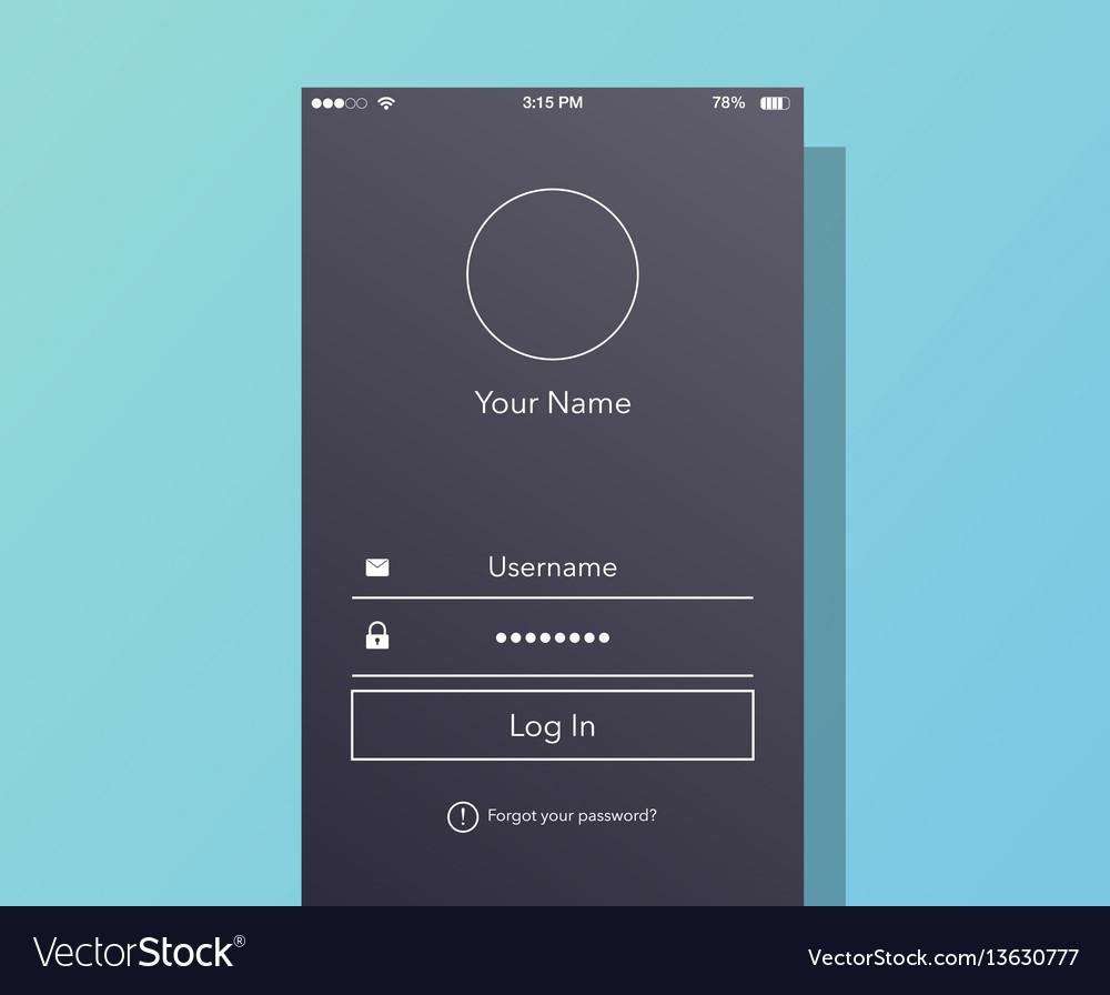 Interface login on phone screen
