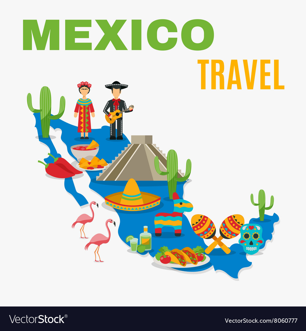 Map Mexico Background Royalty Free Vector Image