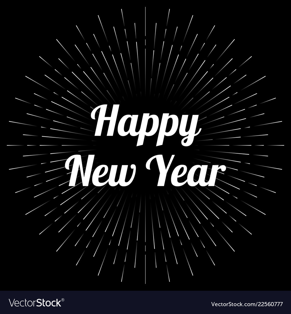 new year card template vector image