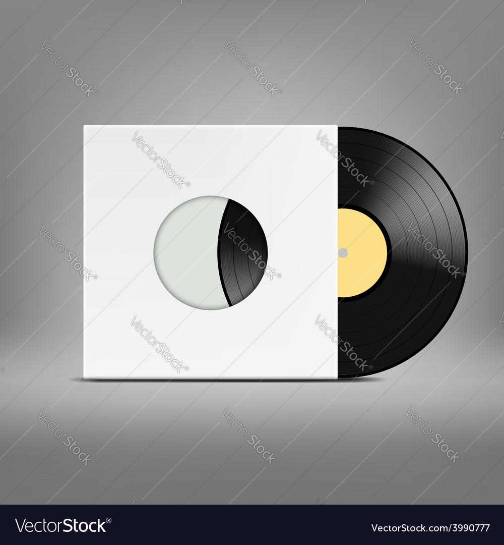 Old vinyl record vector image