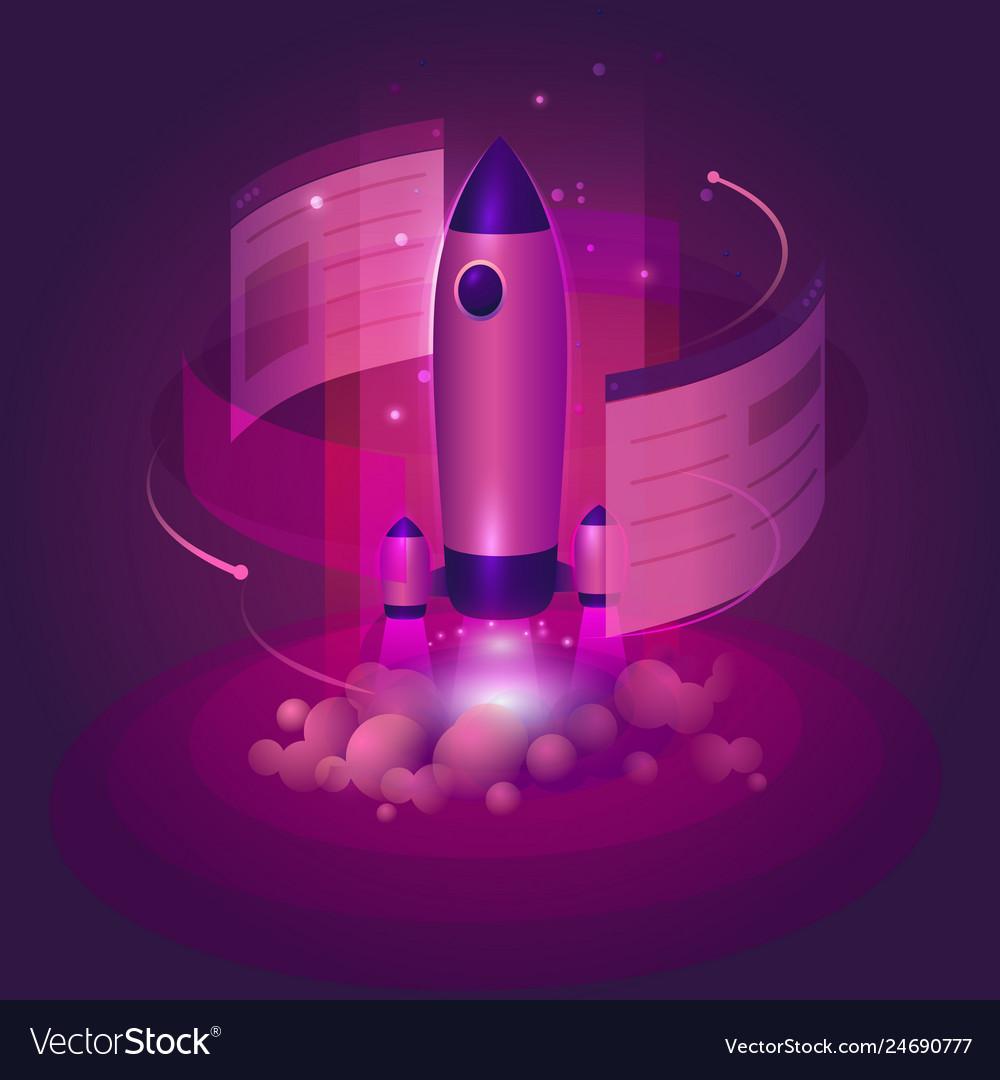 Rocket business website launch start-up in