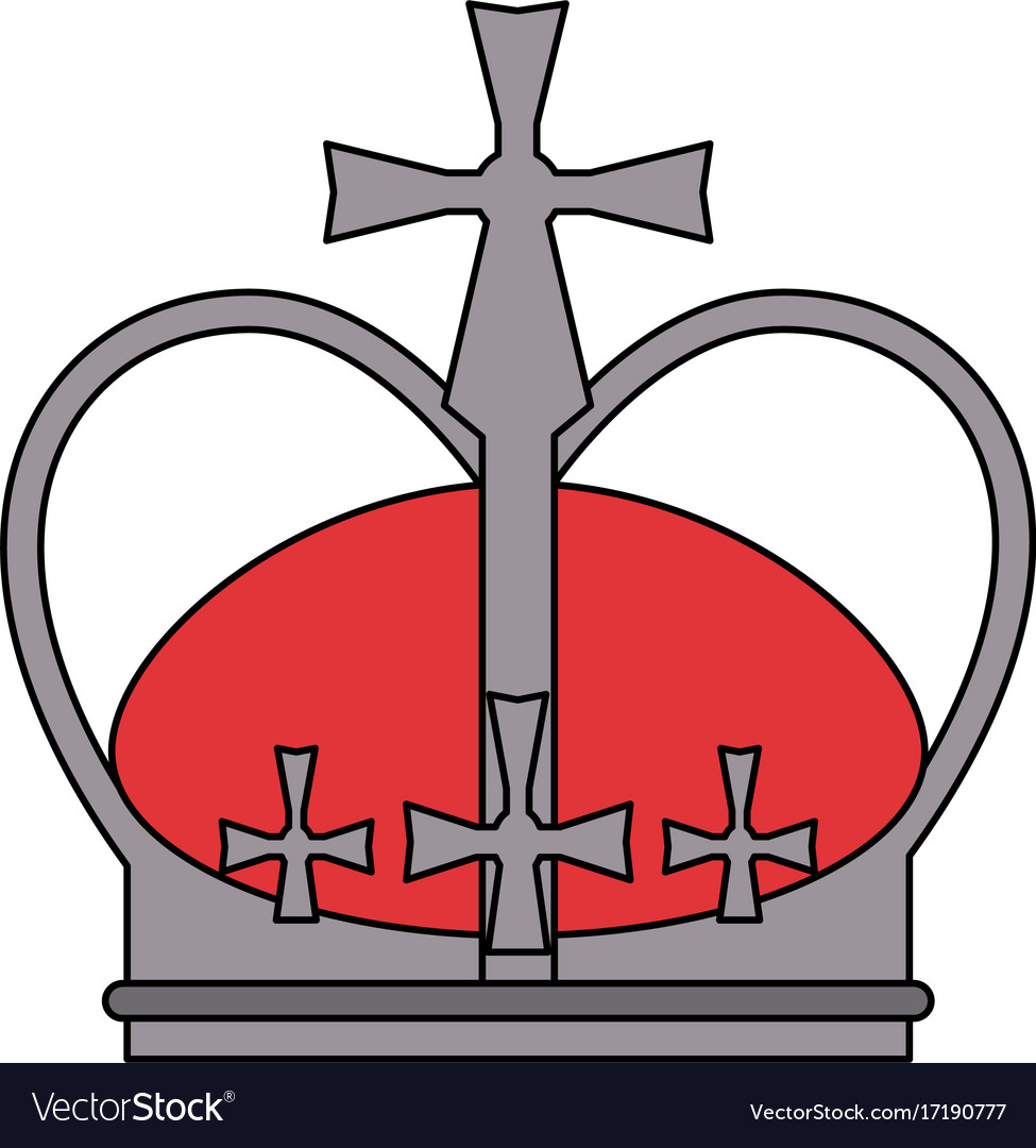Royal crown with crosses icon image