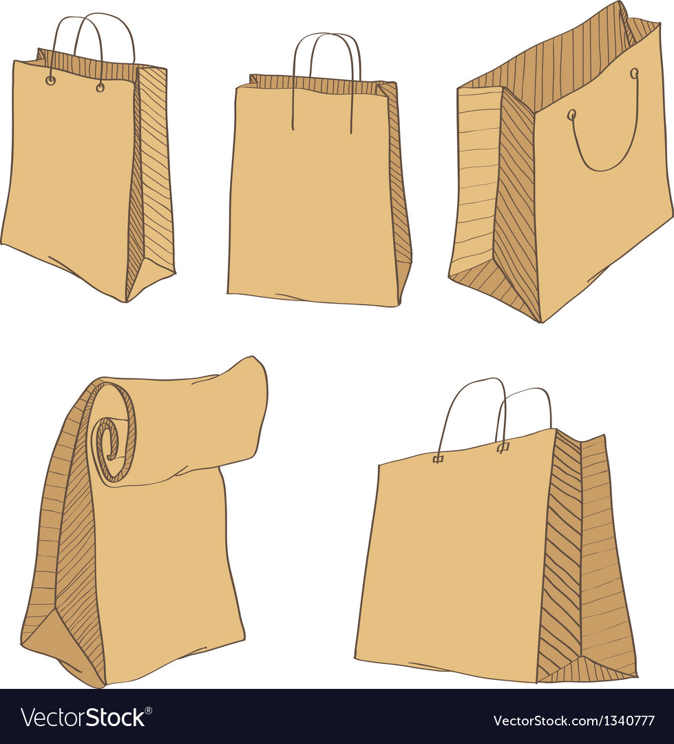 Shopping Bags isolated on a white