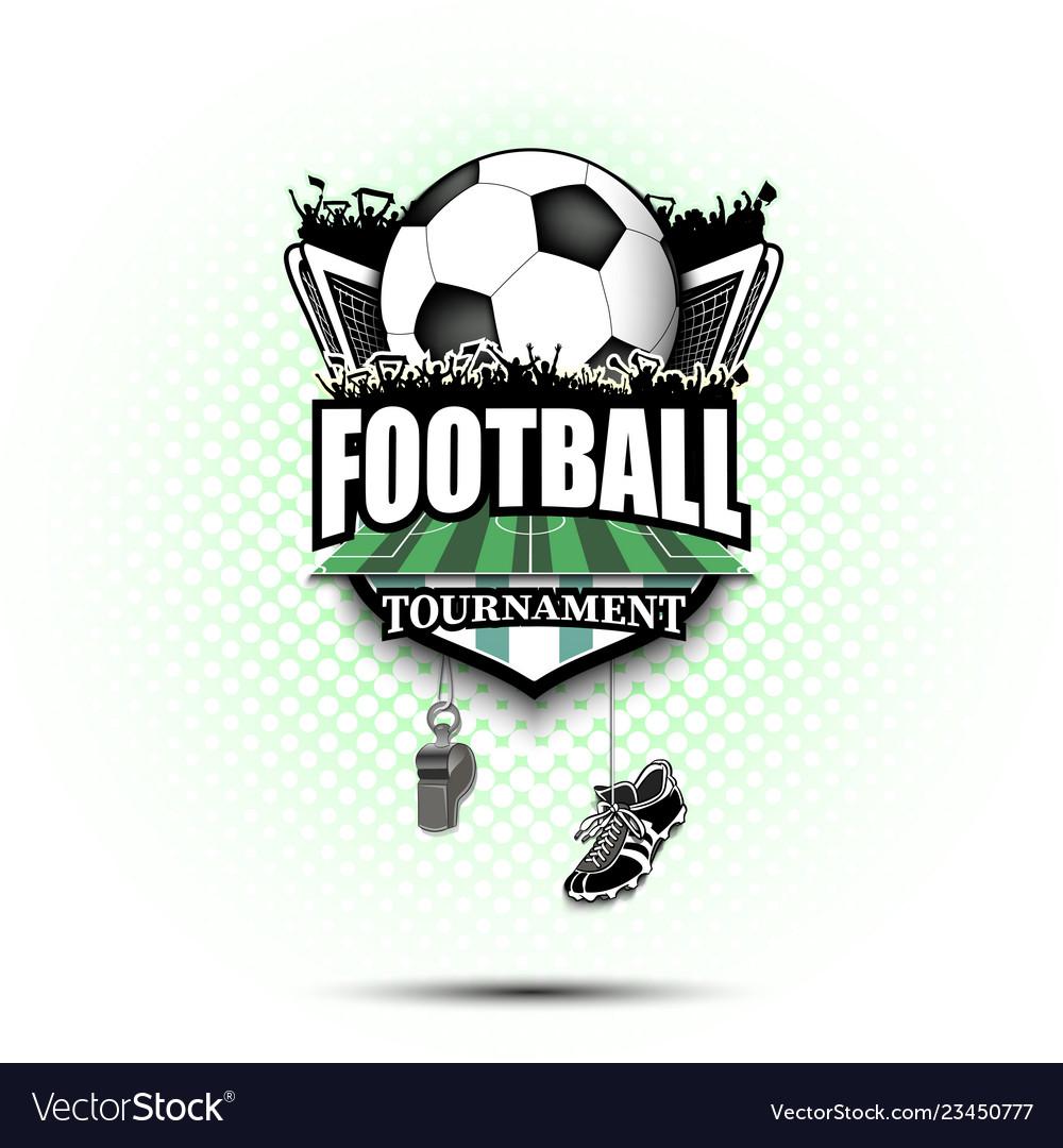 soccer logo design template royalty free vector image vectorstock