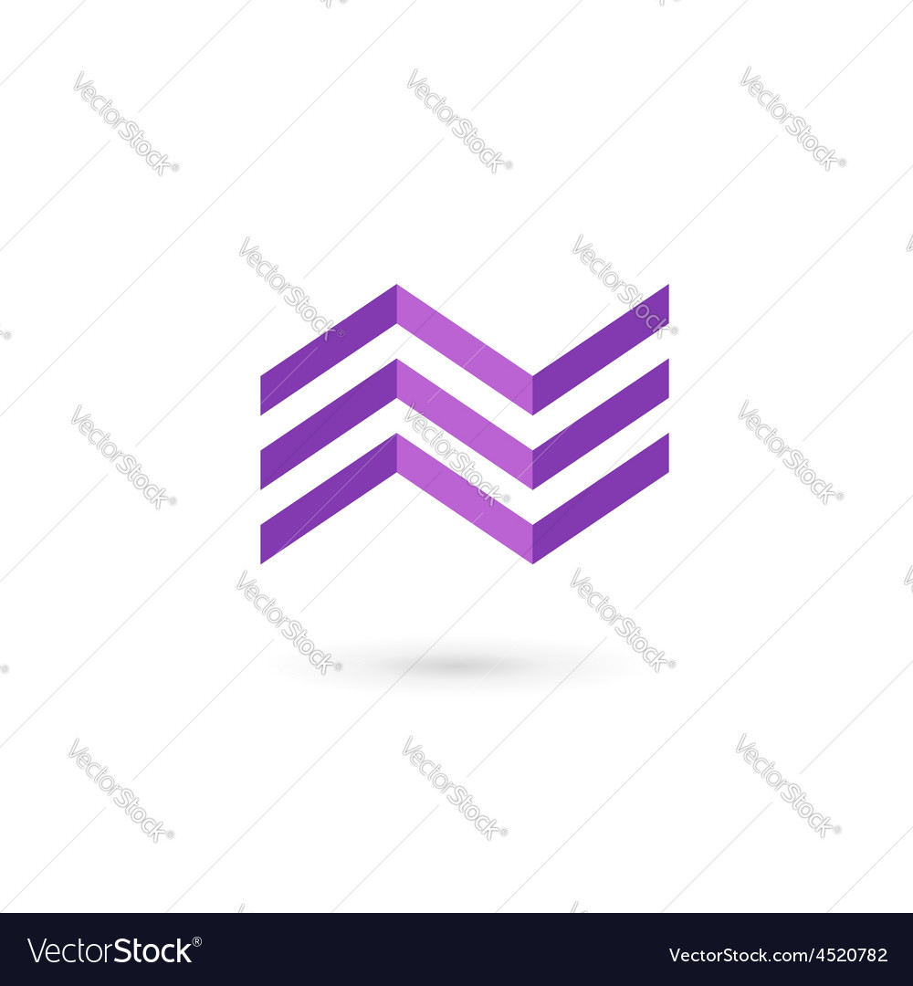 Business logo icon design template with letter N