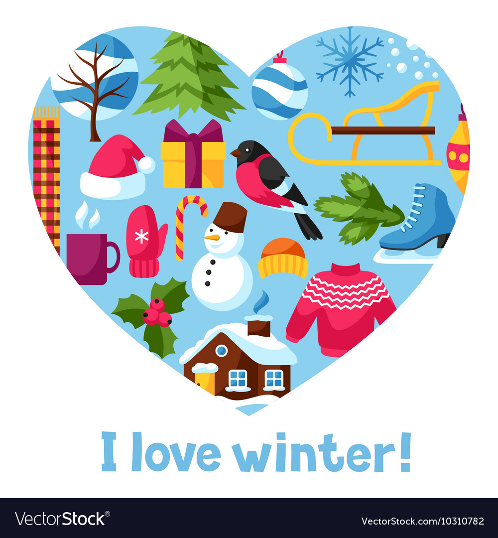 I love winter Merry Christmas Happy New Year