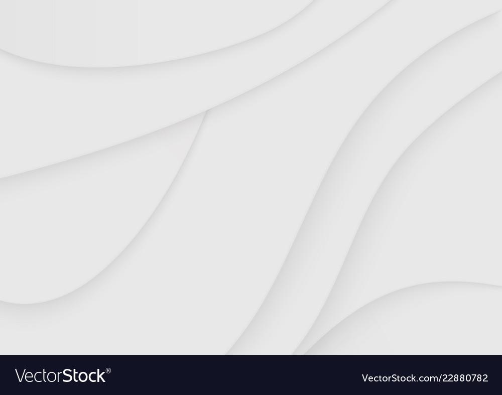 Modern paper cut art abstract soft white