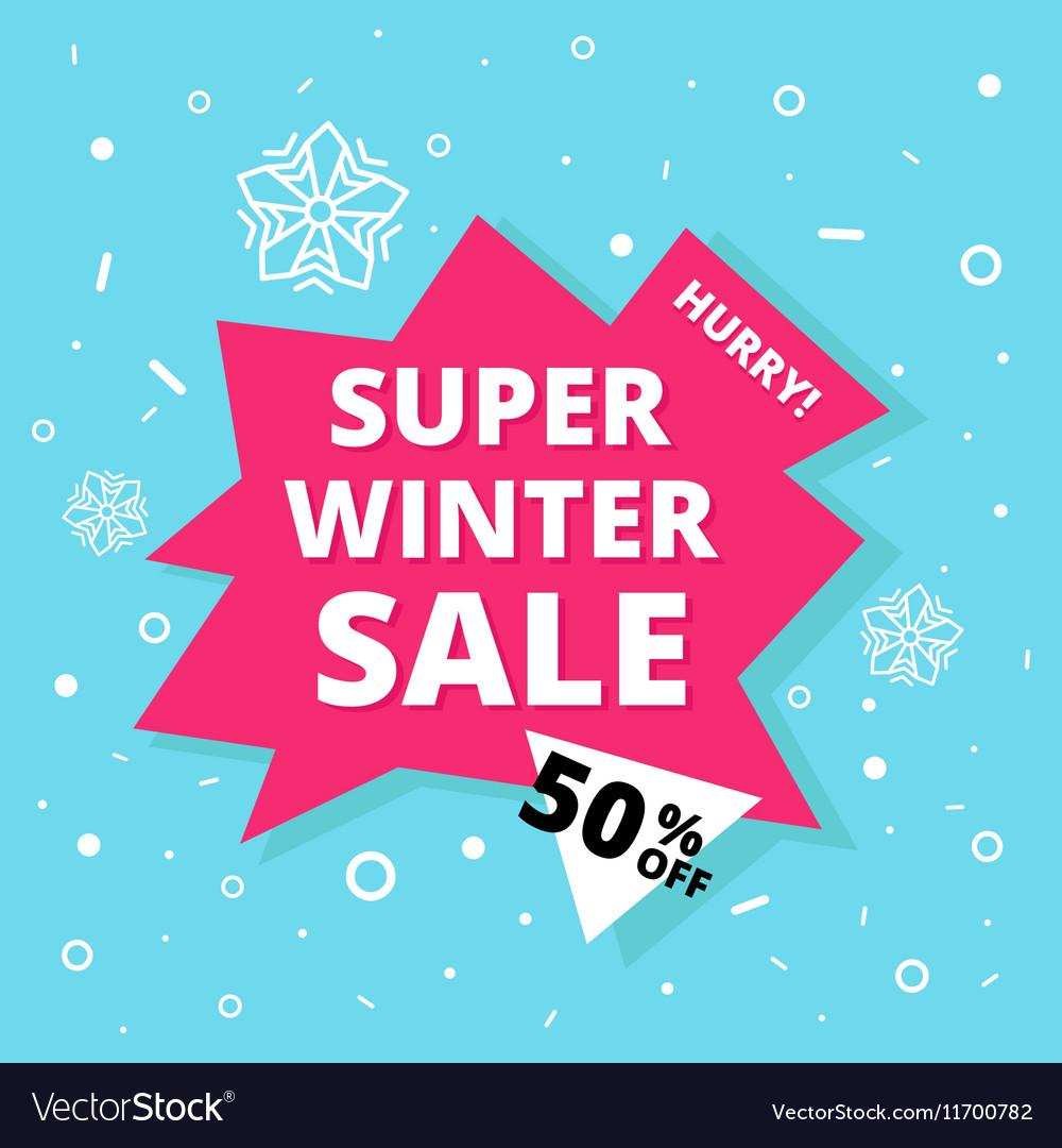 Super winter sale banner