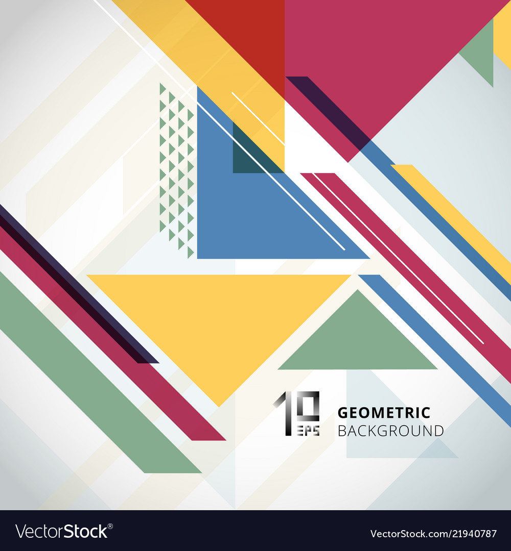 Abstract colorful geometric with triangles on