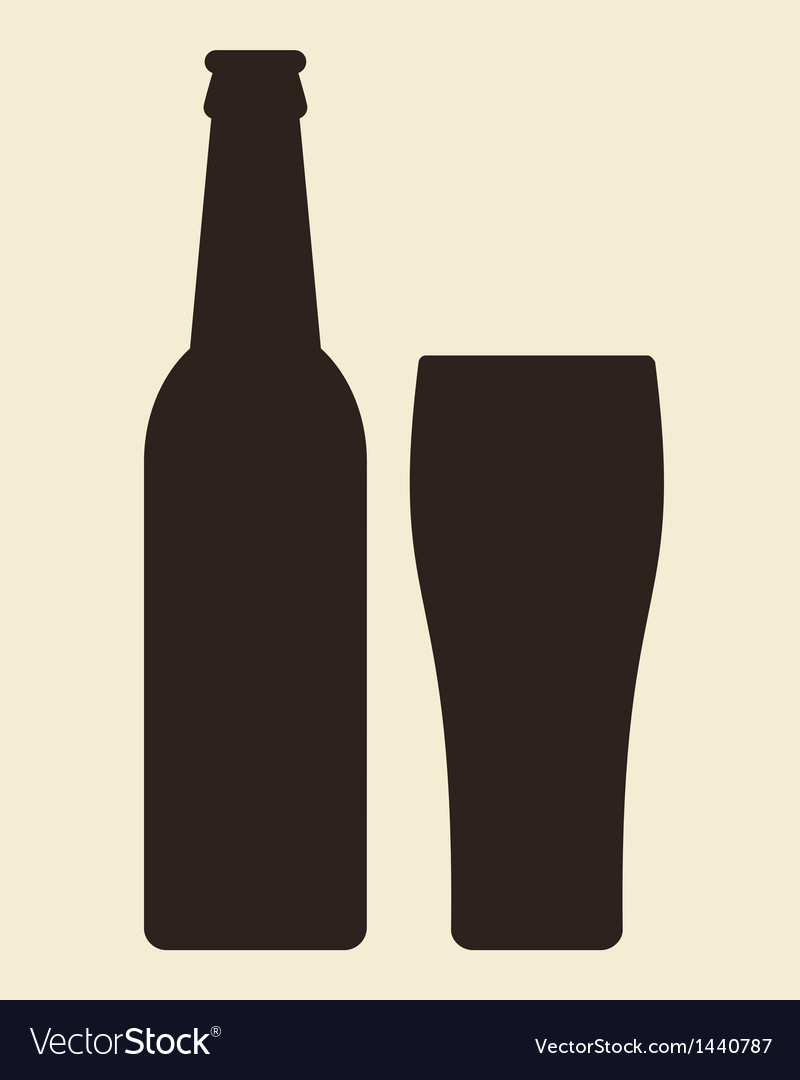 Bottle and glass beer