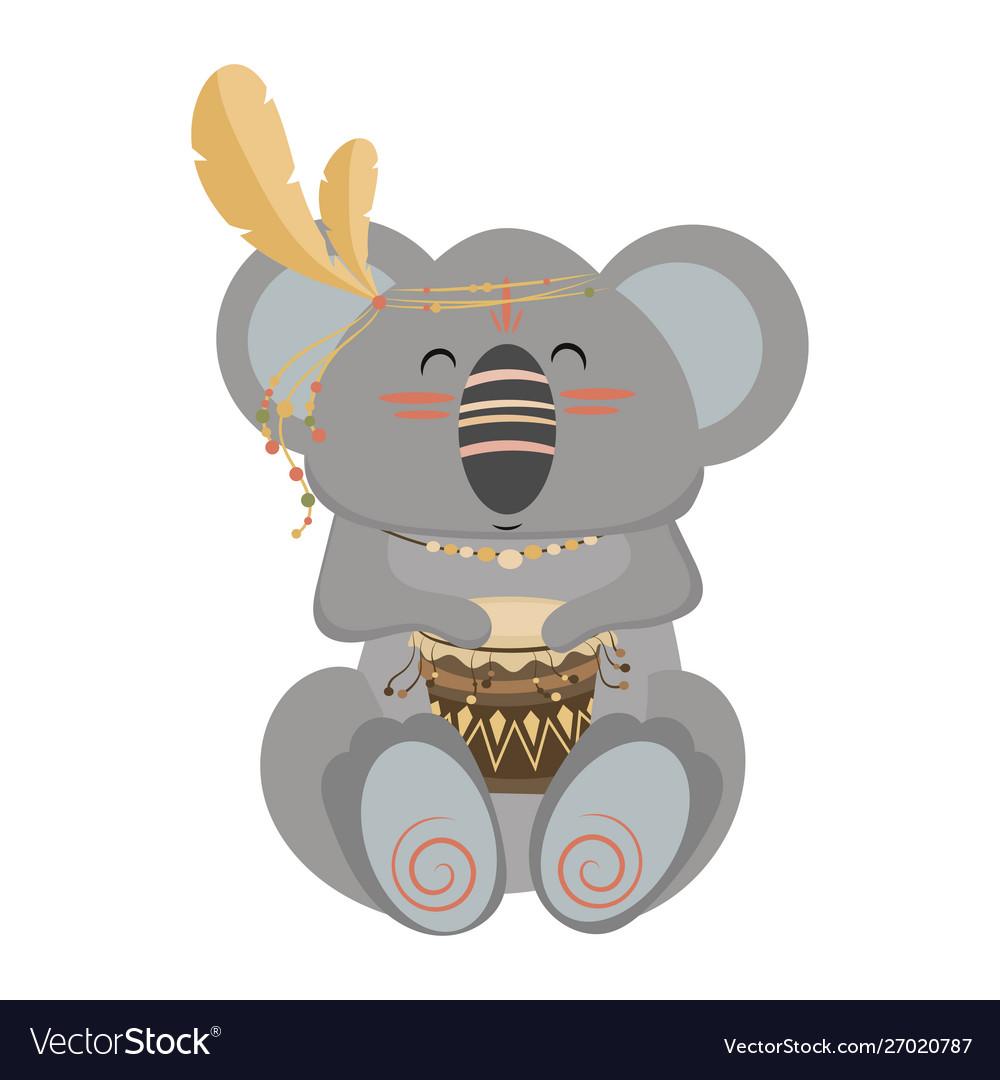 Cartoon koala indian a