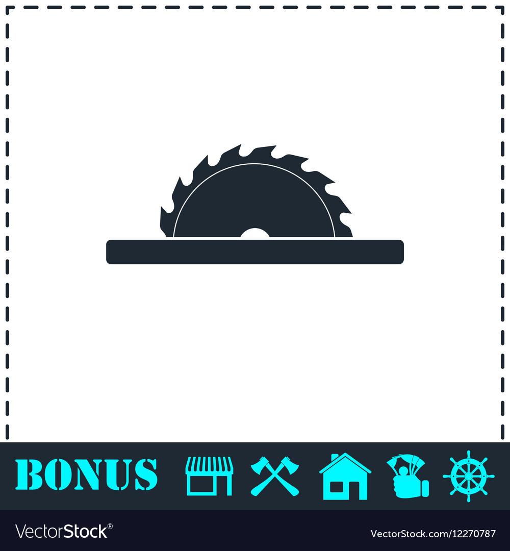 Circular saw blades icon flat vector image