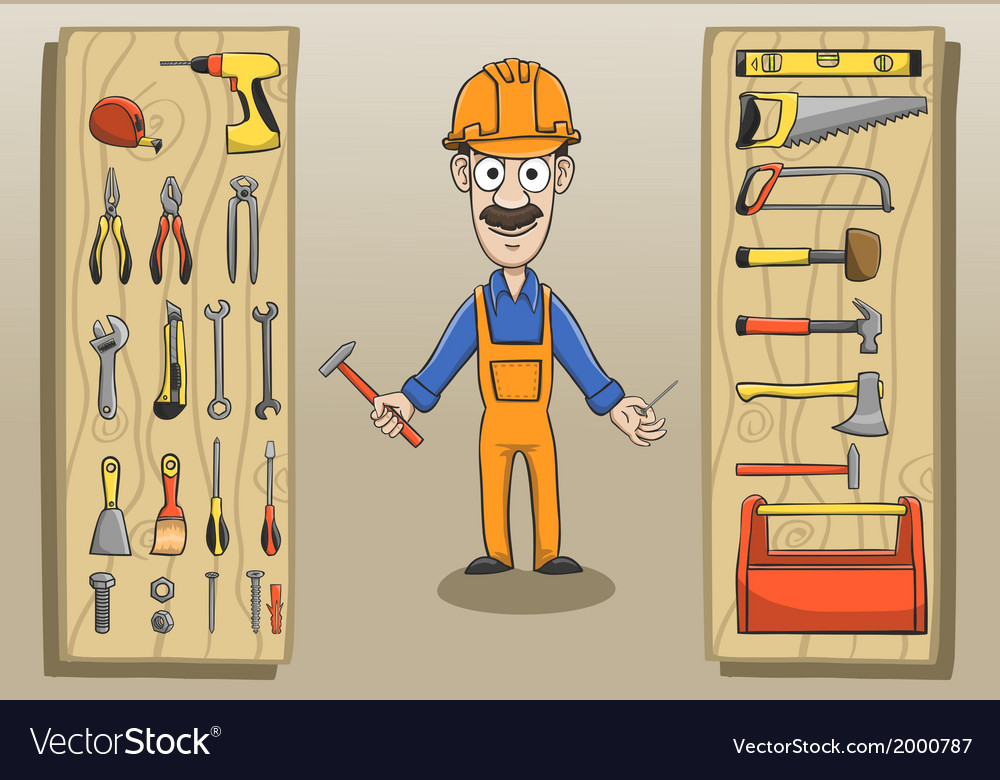 Construction worker character pack