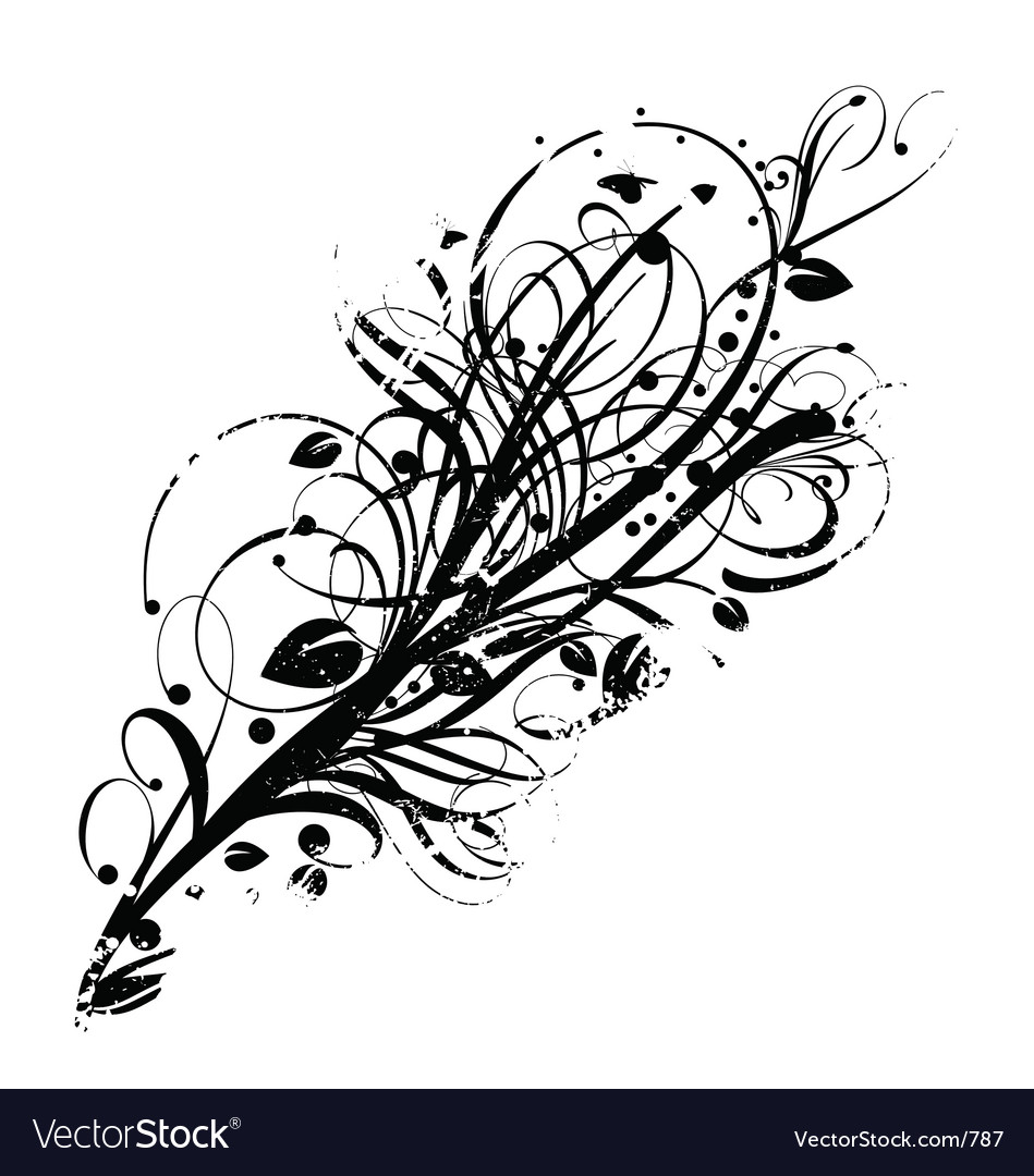Graphic bloom grunge vector image