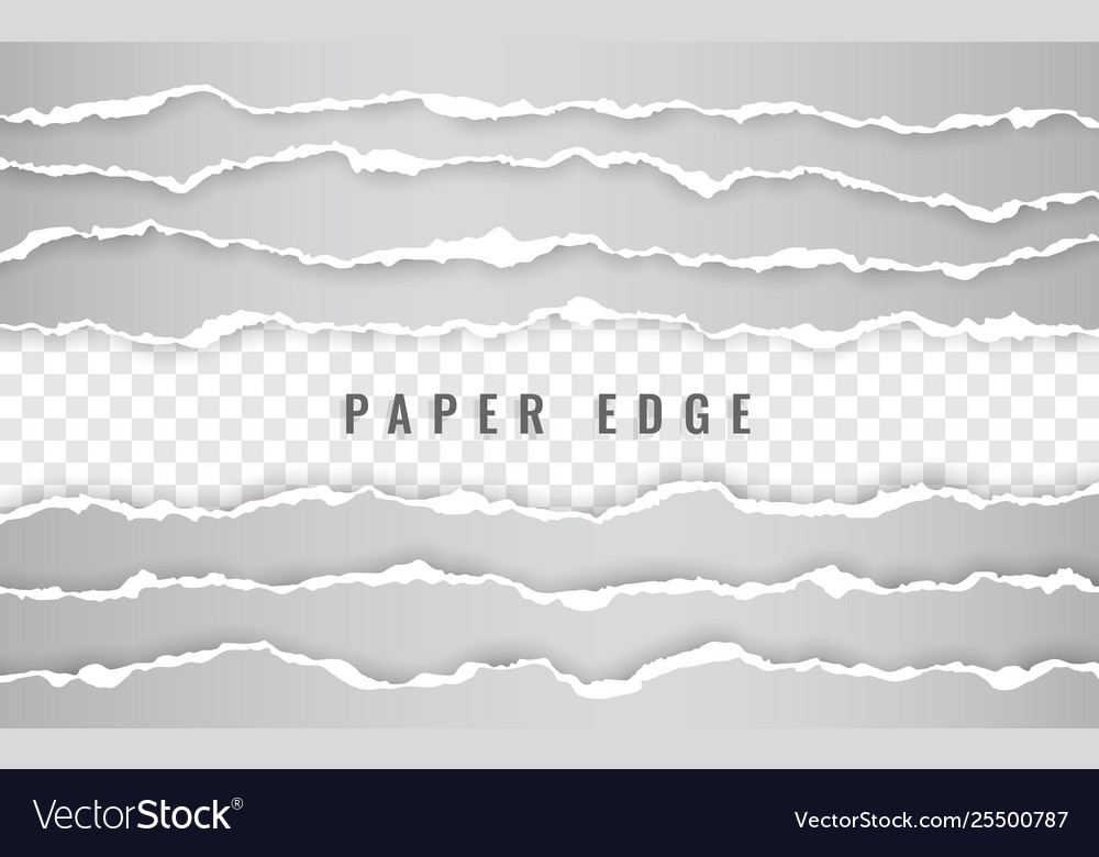Horizontal torn paper edge ripped squared