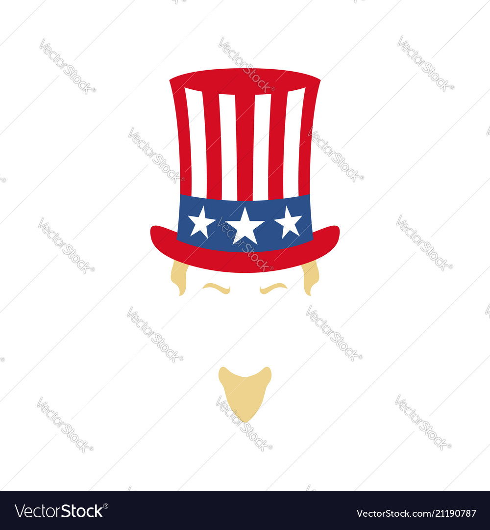 Modern portrait of uncle sam american flag