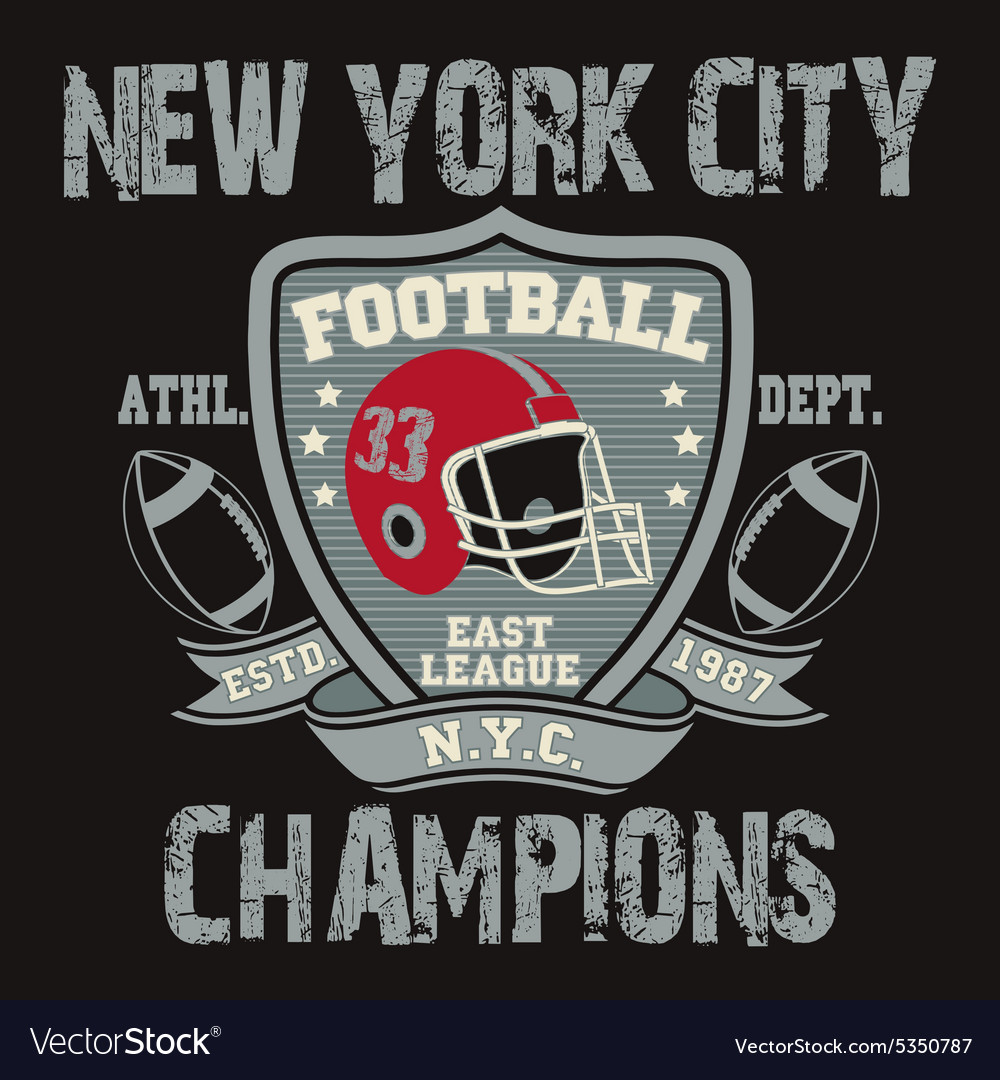 New York Sport Typography Football Logo