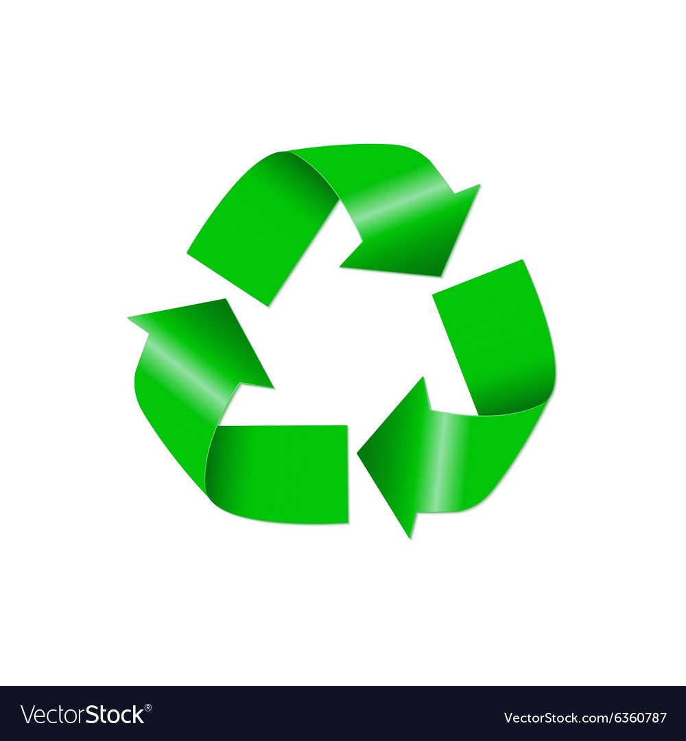 Recycle icon isolated on white background vector image
