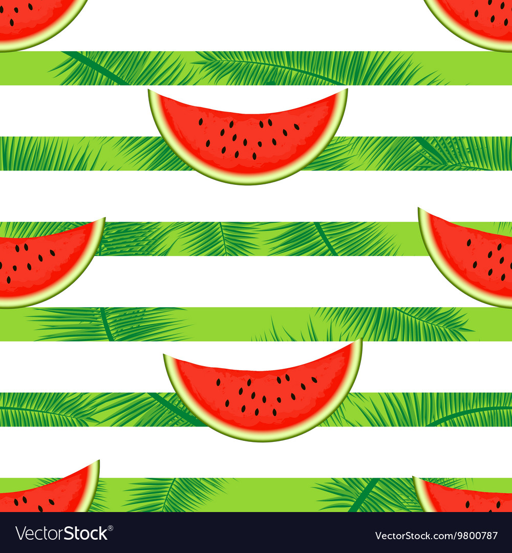Slices of watermelon on a striped background