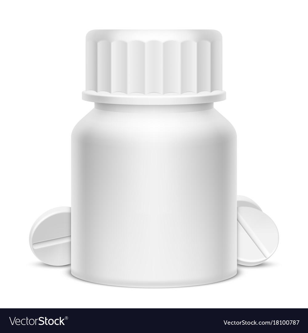 White medicine pill bottle