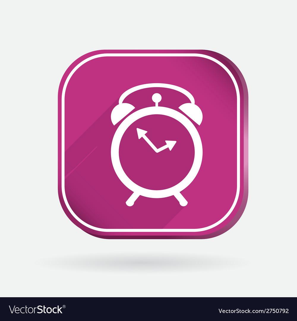 Alarm clock Color square icon