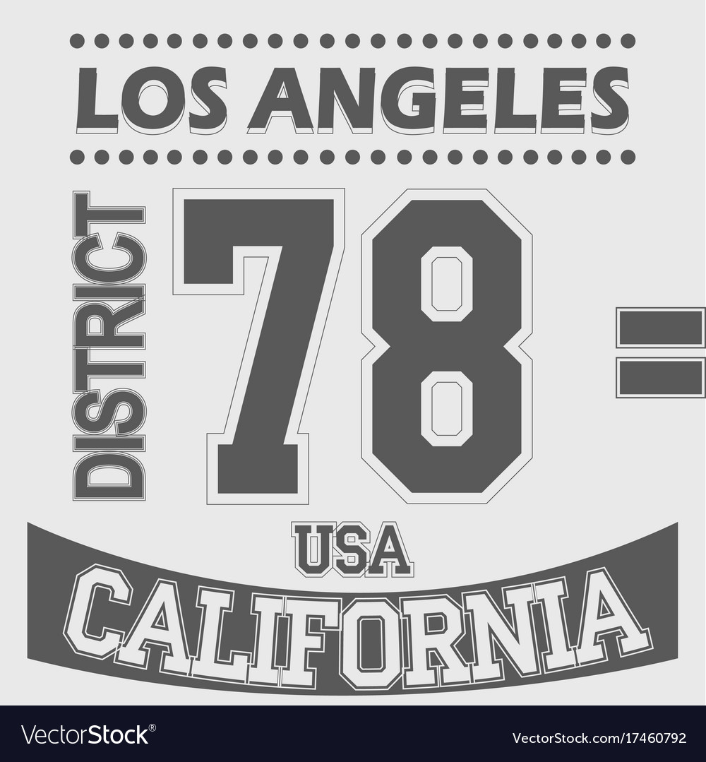 California los angeles district sport t-shirt