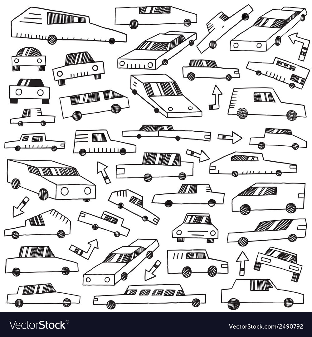 Cars - doodles set