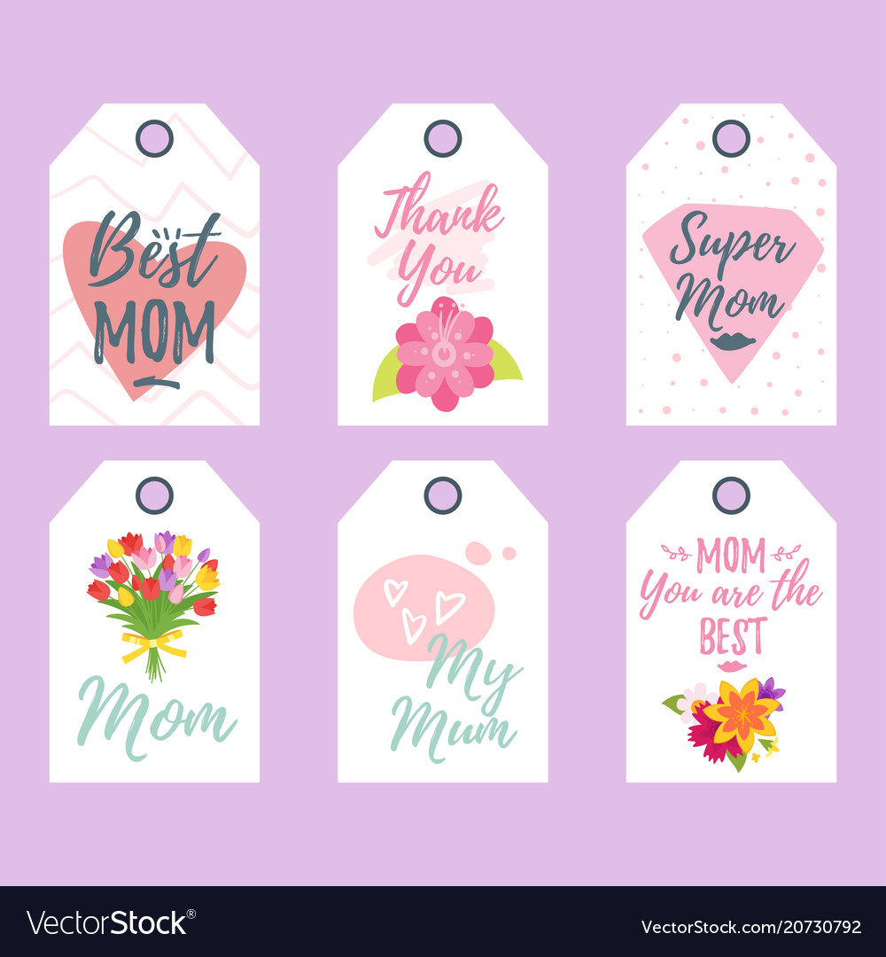 Mother day tags