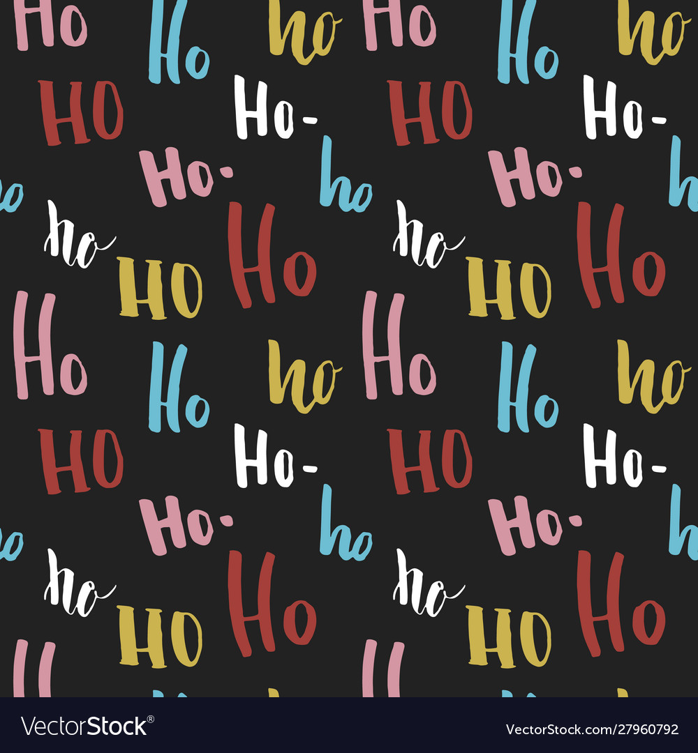 New year and christmas seamless pattern with ho