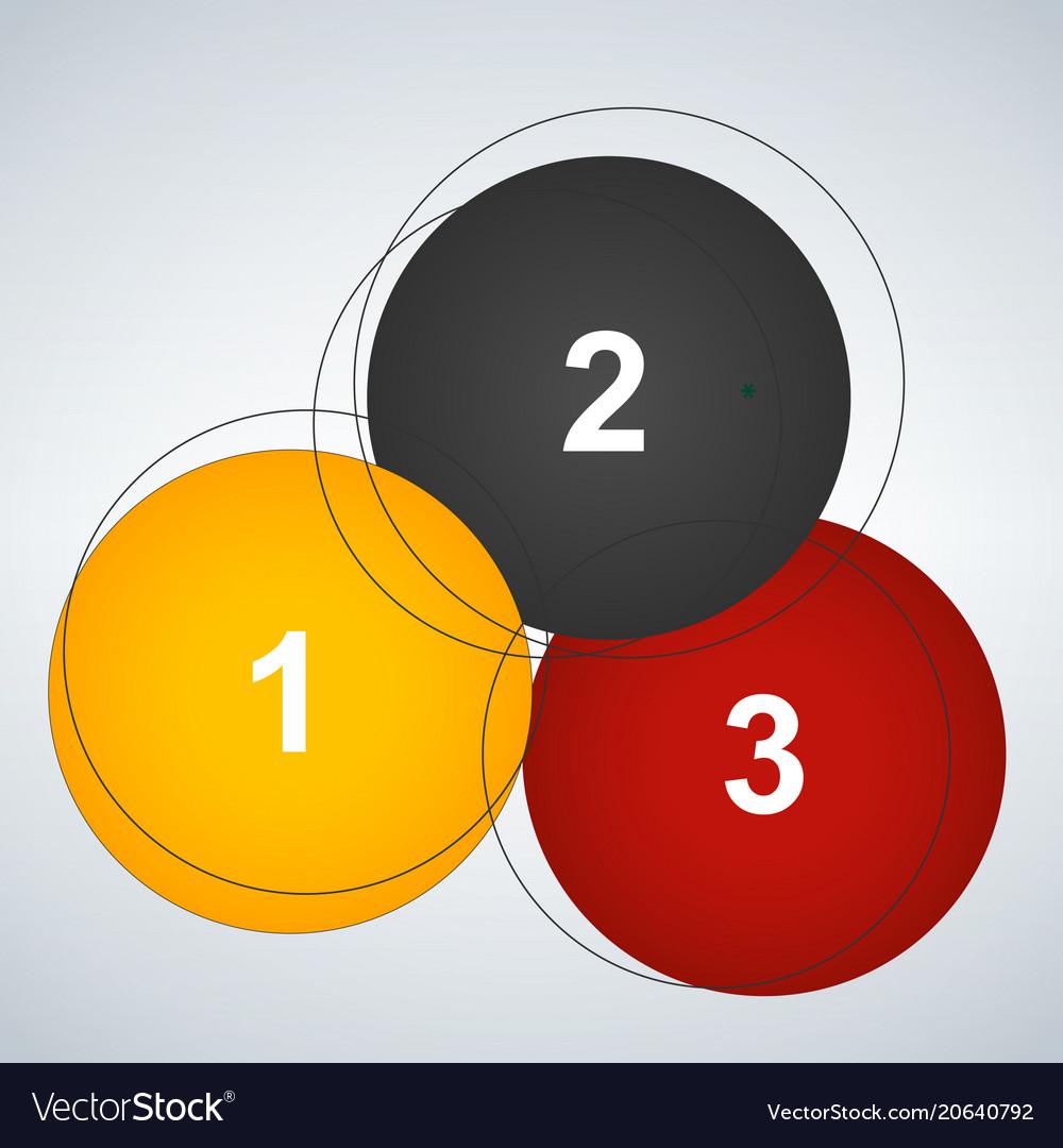 Outline circular infographic minimalistic diagram