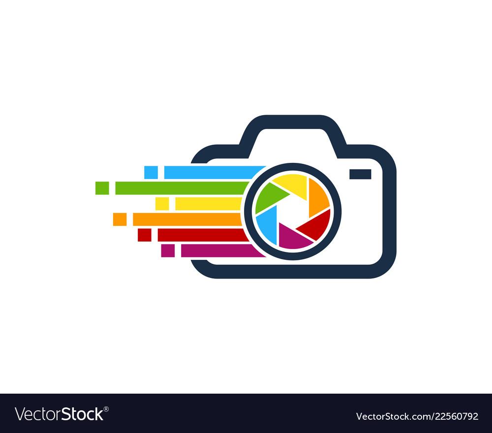 Pixel art camera logo icon design