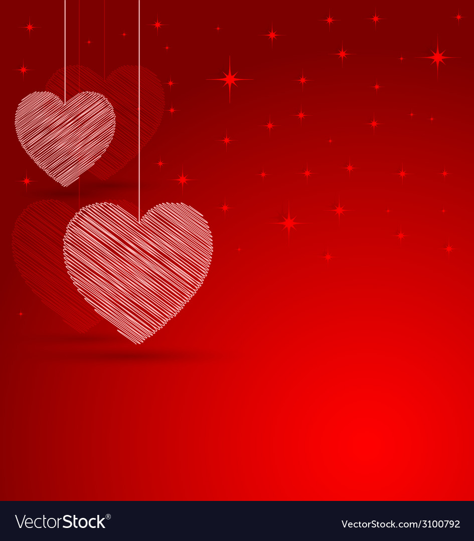 Romantic heart with lights effect background