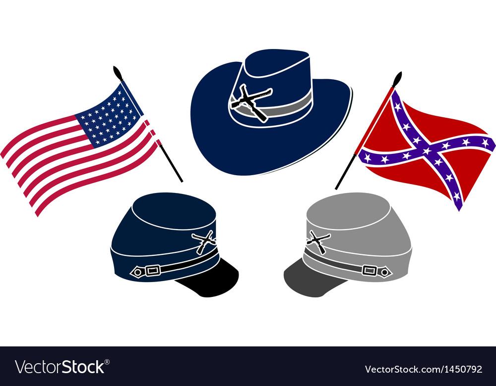 Symbol Of American Civil War Royalty Free Vector Image