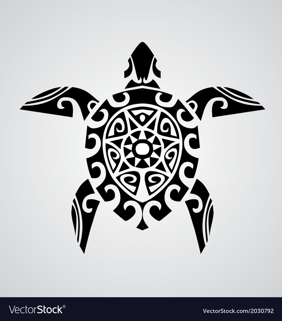 Tribal Turtle vector image