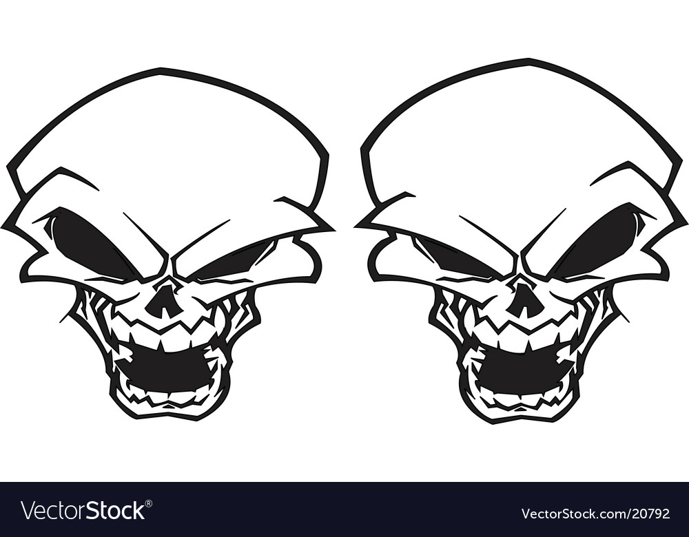 Twin skull tattoo