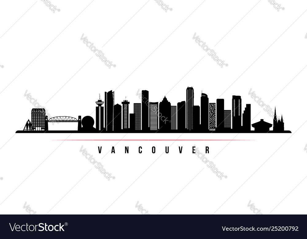 Vancouver city skyline horizontal banner