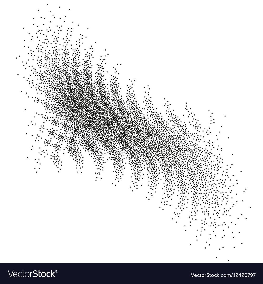 Abstract halftone circle design EPS 10 vector image