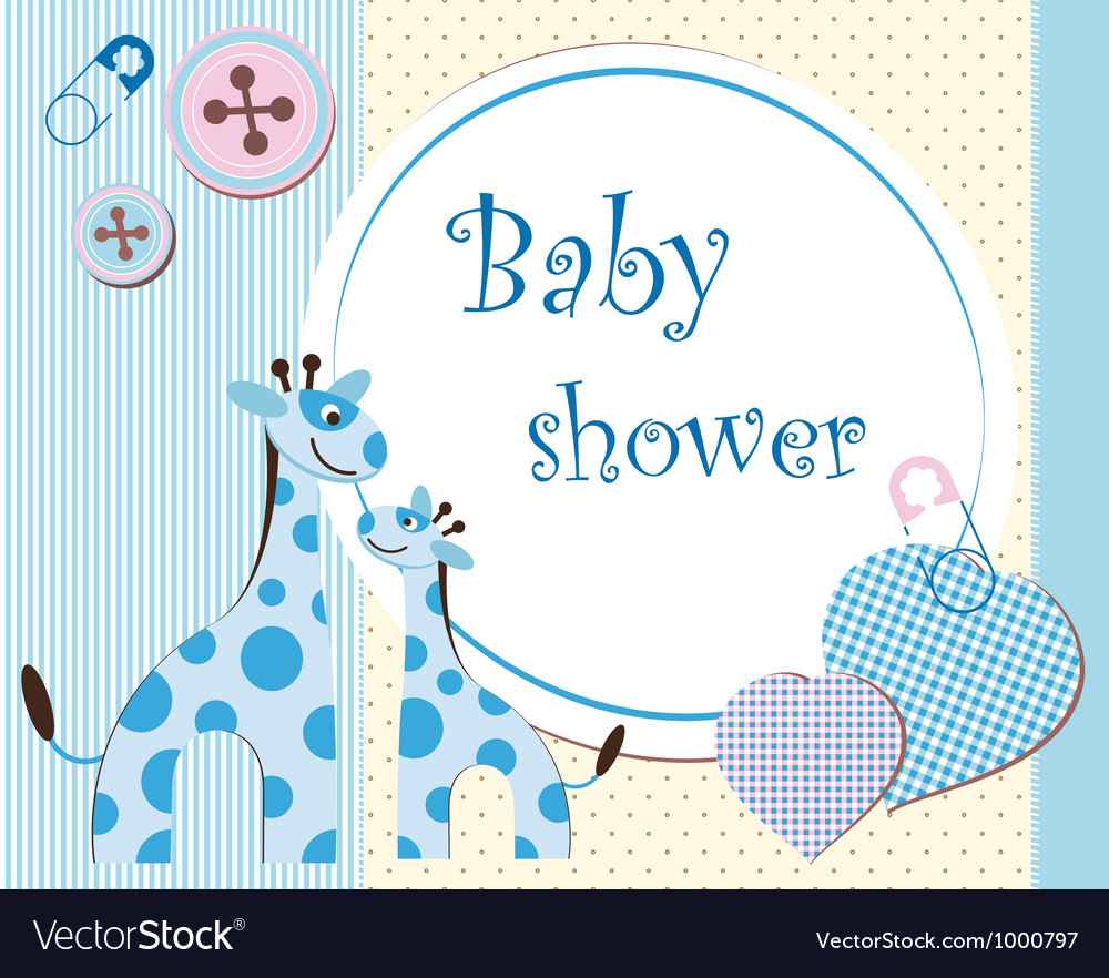 Baby Shower Picture Frames on Baby Shower   Boy Vector 1000797 By Blondina93
