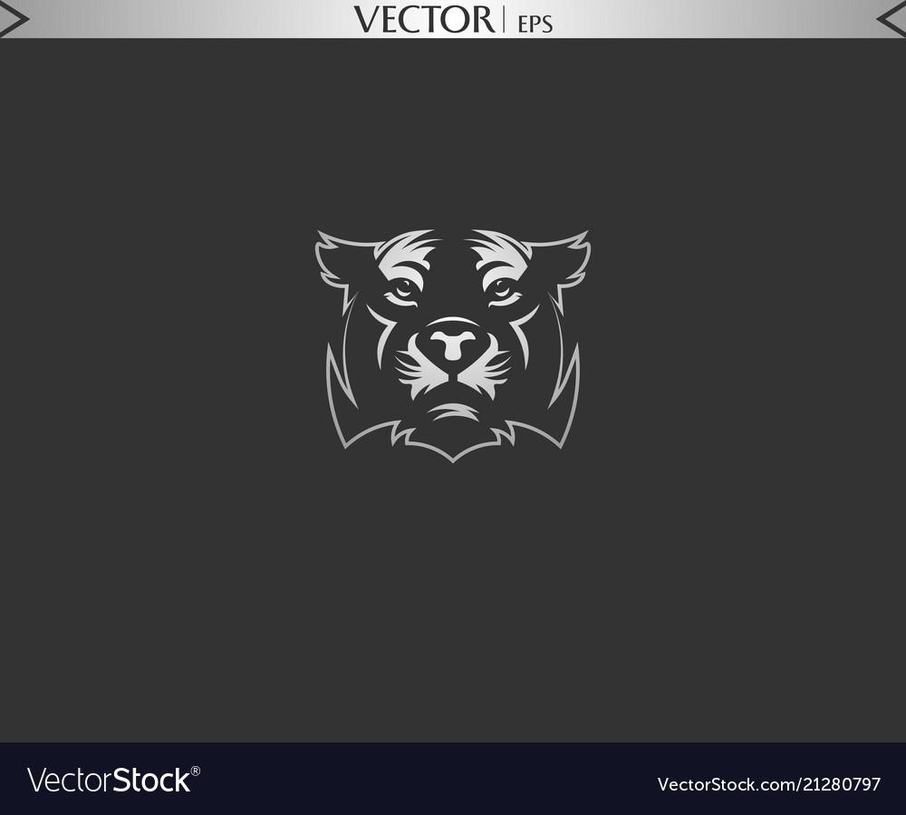 Bear face silhouette