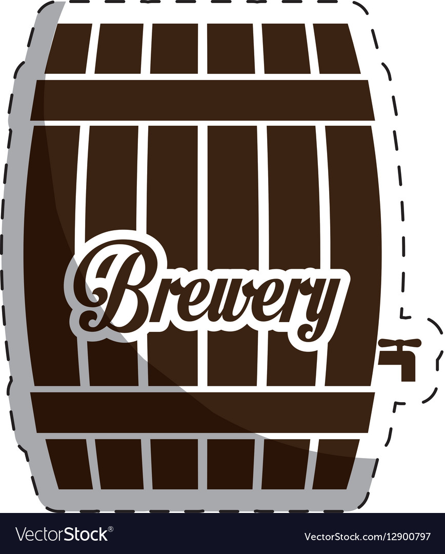 Brown barrel icon image design vector image