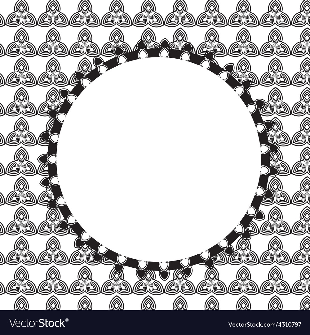 Design Retro Label Frame with Bow Royalty Free Vector Image