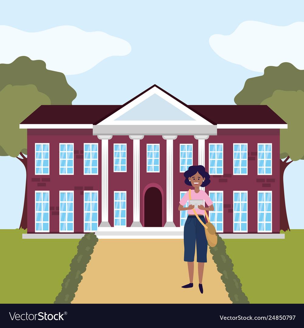 Education University College Cartoon Royalty Free Vector