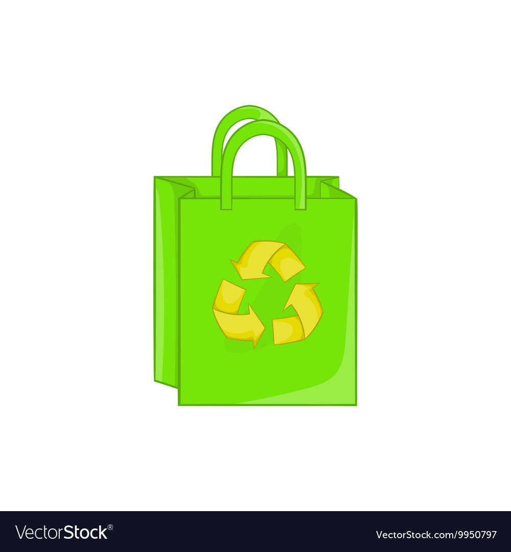 Package recycling icon cartoon style
