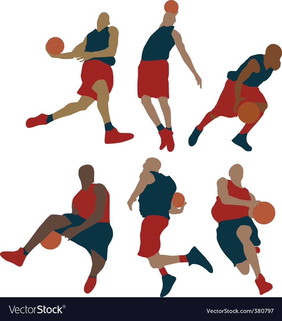 Set of basketball player
